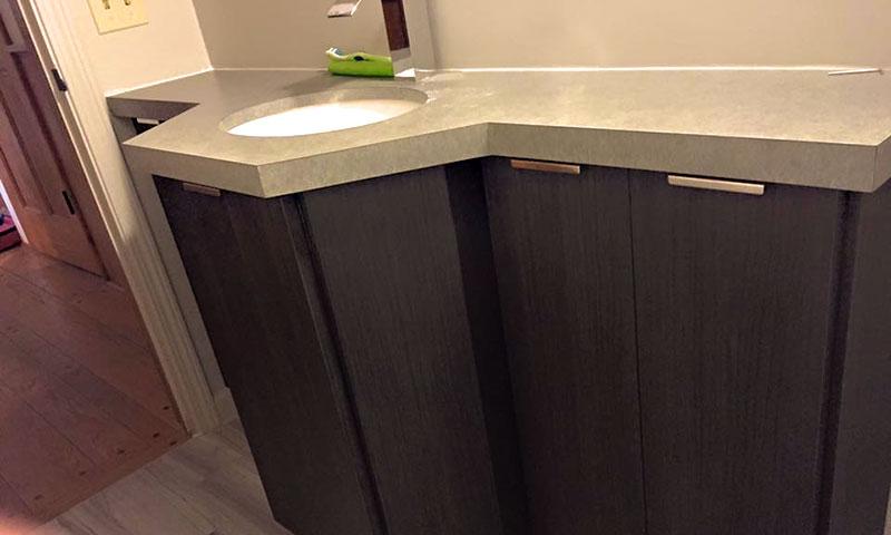 Custom Half Bathroom - Rochester, NY - Craftworks Custom Cabinetry - Rochester, NY
