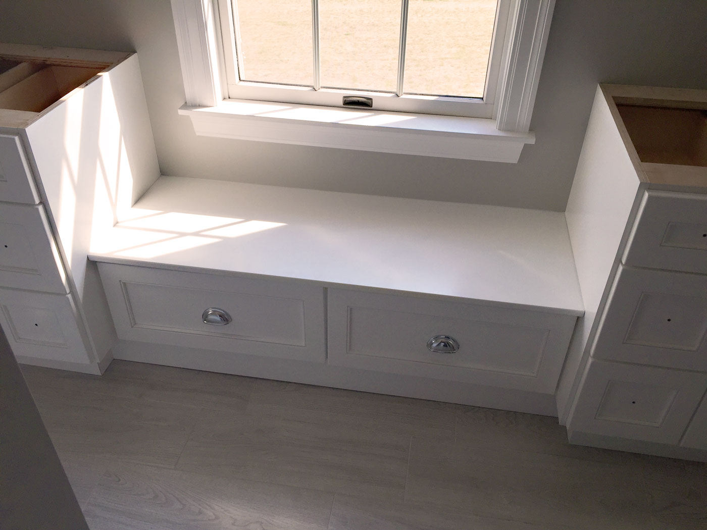 Custom Bathroom Remodel in White - Craftworks Custom Cabinetry - Rochester, NY