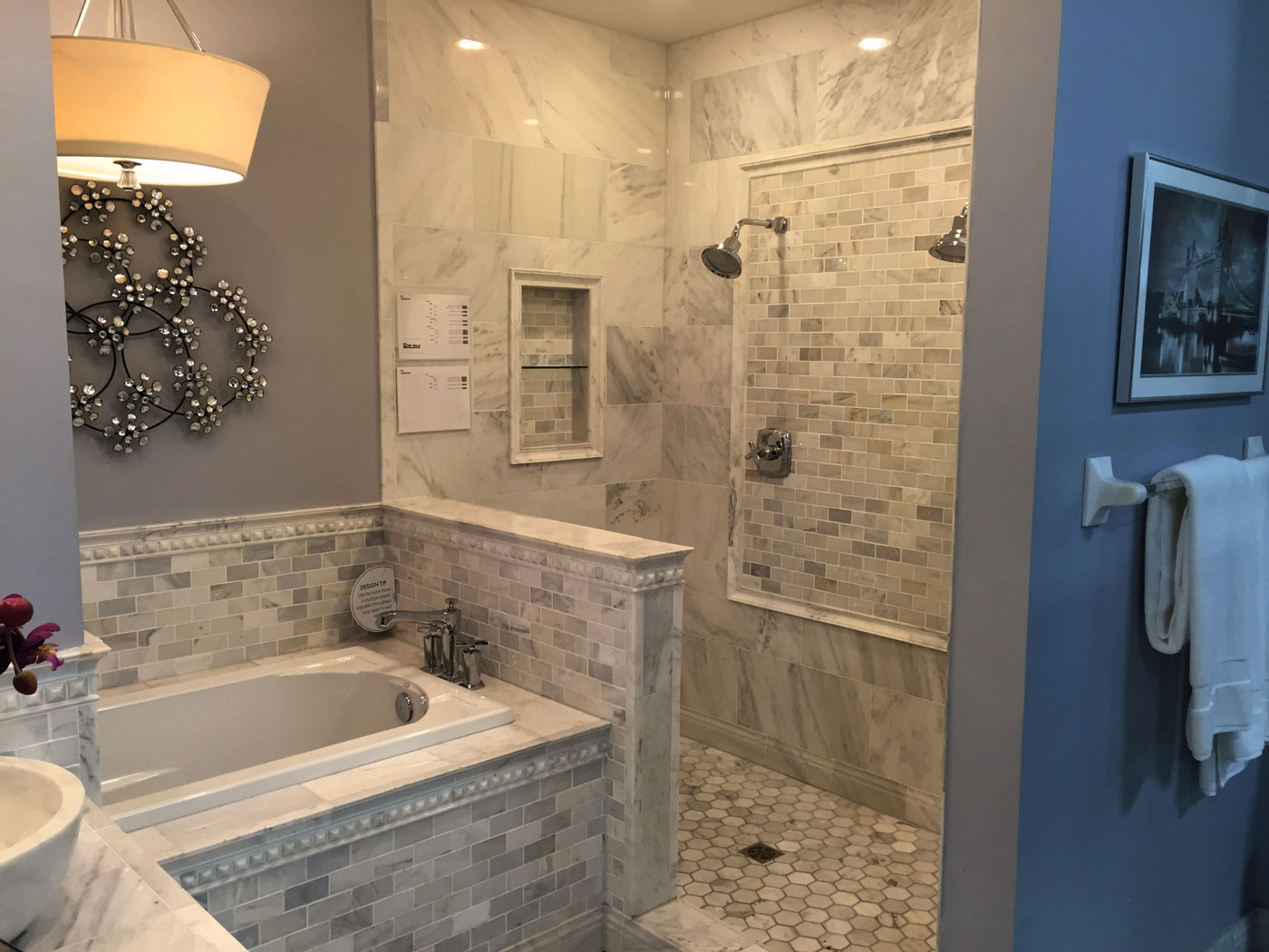Custom Tile Bathroom Remodel - Craftworks Custom Cabinetry - Rochester, NY