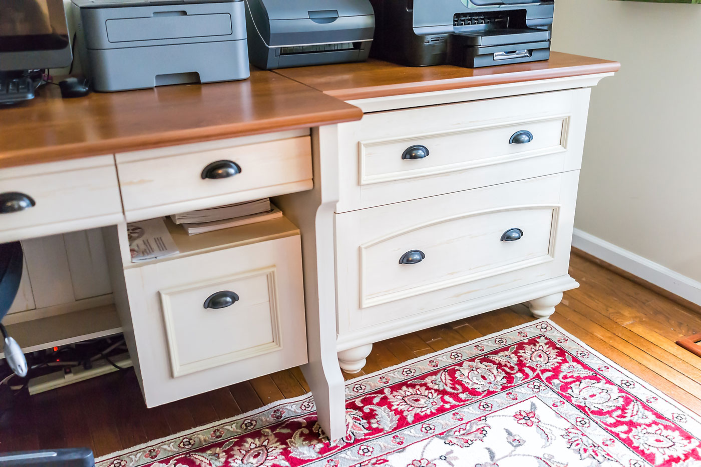 Custom Wood Desk - Craftworks Custom Cabinetry - Rochester, NY