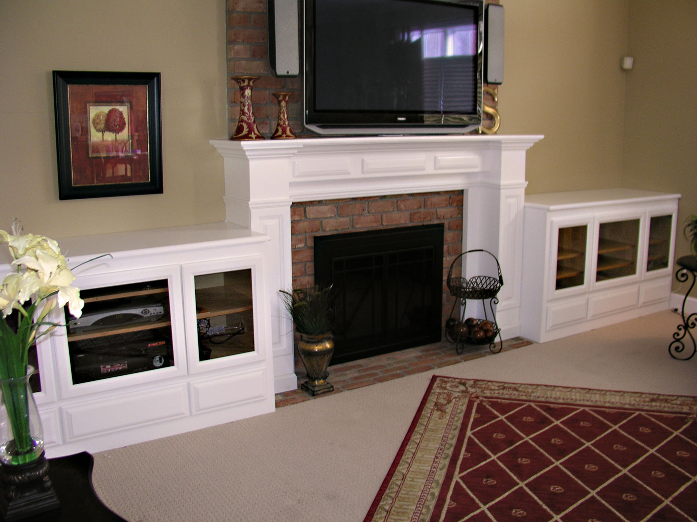 Built In Cabinets Amp Fireplace Mantel Craftworks Custom