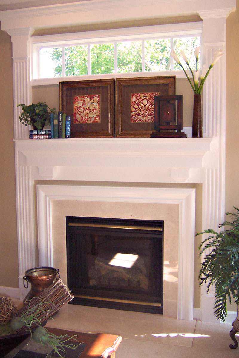 Fireplace Mantel with Window - Craftworks Custom Cabinetry - Rochester, NY
