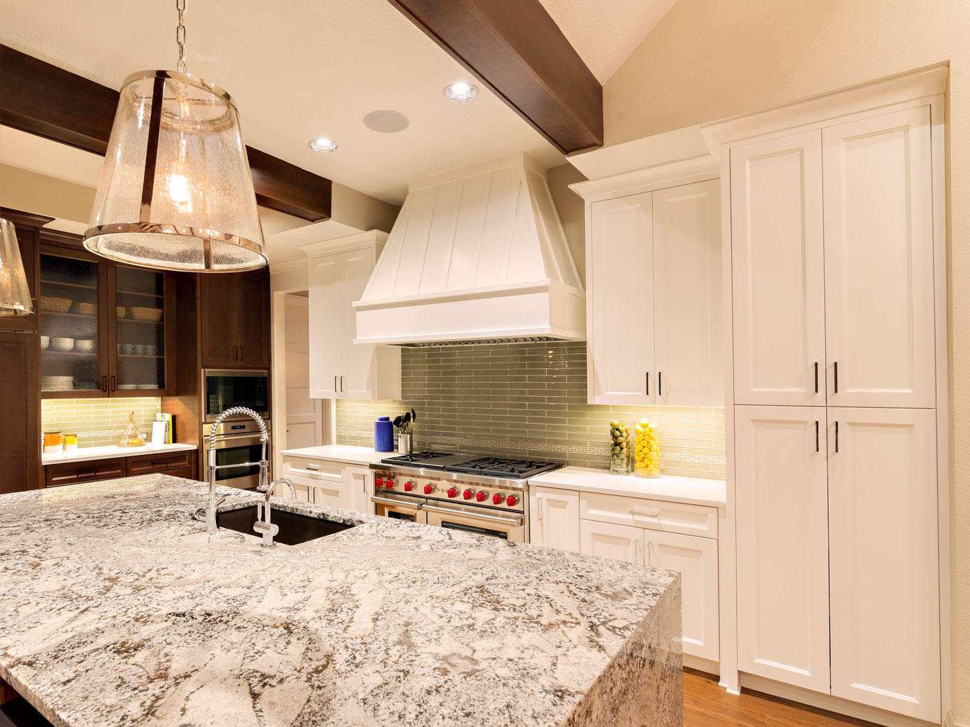 Custom Kitchen with Island - Craftworks Custom Cabinetry - Rochester, NY