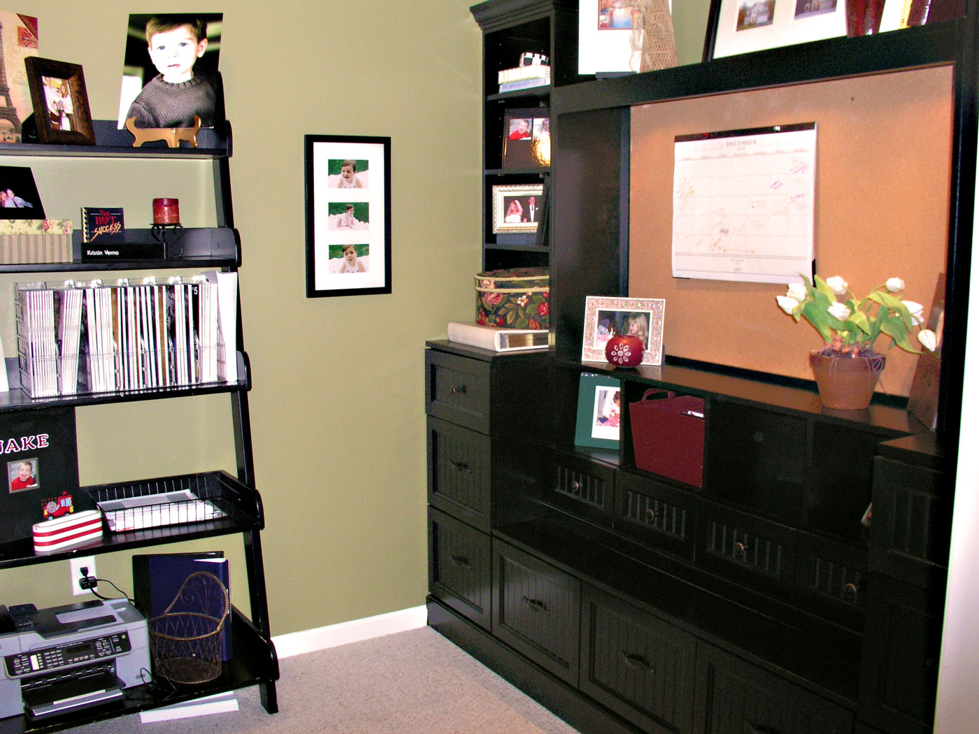 Custom Office Desk and Cabinet - Craftworks Custom Cabinetry - Rochester, NY