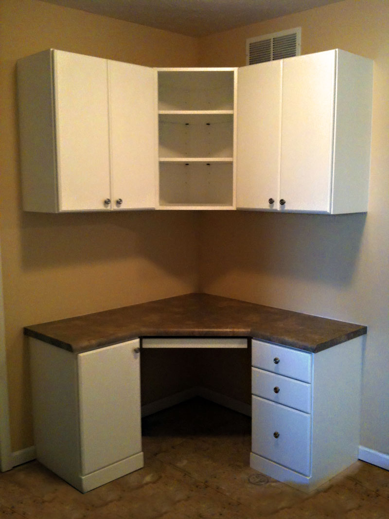 Custom Home Office Desk & Cabinet - Craftworks Custom Cabinetry - Rochester, NY
