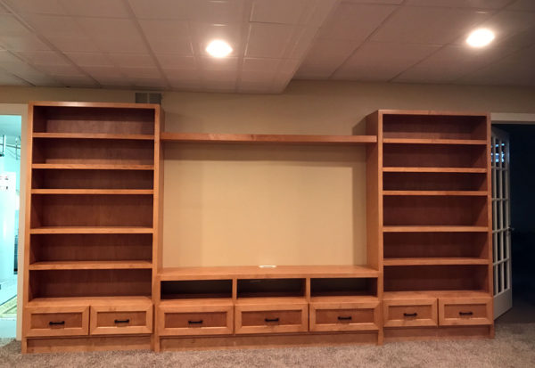 Custom Entertainment Center - Craftworks Custom Cabinetry - Rochester, NY