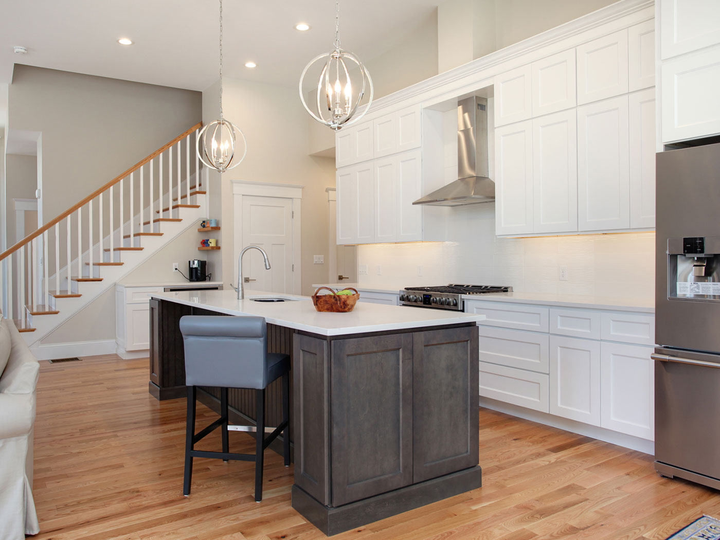 Standard Kitchen Cabinets Brooklyn White & Slate - Craftworks Custom Cabinetry - Rochester, NY