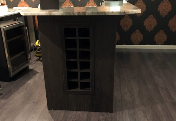 Custom Wood Wine Cabinet - Craftworks Custom Cabinetry - Rochester, NY